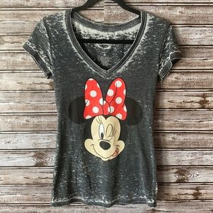 Minnie Mouse Acid Wash T Shirt Size Small